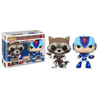 Funko Pop! Games: Marvel vs. Capcom Infinite - Rocket vs Mega Man - Games Gifts