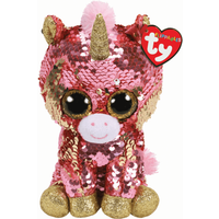 Ty Flippables 15cm Soft Toy - Sunset Coral Unicorn - Coral Gifts
