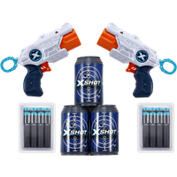 X-Shot Double MK 3 Foam Dart Blaster Combo Pack -16 Darts 3 Cans - Darts Gifts