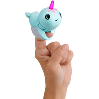 Fingerlings Light Up Narwhal - Nikki (Turquoise) - Turquoise Gifts