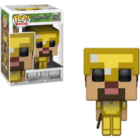 Funko Pop! Games: Minecraft - Steve in Gold Armor - Games Gifts