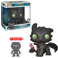 Funko Pop! Movies: How To Train Your Dragon - The Hidden World - Toothless 10inch (UK Exclusive) - How To Train Your Dragon Gifts