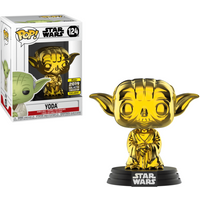 Funko Pop! Star Wars - Chrome Yoda - 2019 Galactic Convention (UK Exclusive) - Yoda Gifts