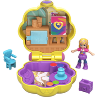 Polly Pocket Tiny Pocket Places - Polly's Awesome Art Studio Compact Playset - Polly Pocket Gifts
