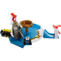 Hot Wheels Monster Trucks Giant Mechanized Shark Face-off Playset - Trucks Gifts