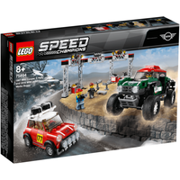 LEGO Speed Champions Mini Cooper S Rally 1967 vs Mini Cooper Works Buggy 2018 - 75894 - Mini Cooper Gifts