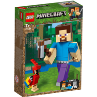 LEGO Minecraft Steve BigFig with Parrot - 21148 - Parrot Gifts