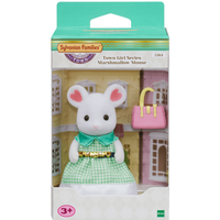 Sylvanian Families Town Girl Series - Marshmallow Mouse - Girl Gifts