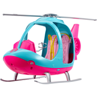 Barbie Helicopter - Pink and Blue with Spinning Rotor - Helicopter Gifts