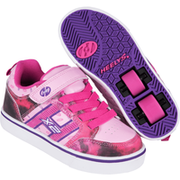 Heelys - Size 1 - X2 Bolt Pink and Purple Skate Shoes - Heelys Gifts
