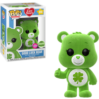 Funko Pop! Animation: Care Bears - Good Luck Bear Flocked Edition - Bears Gifts