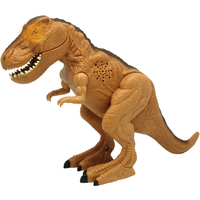 Mighty Megasaur 25cm Interactive Dinosaur - Brown T-Rex - Brown Gifts