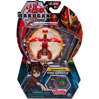 Bakugan 8cm Ultra Action Figure and Trading Card - Pyrus Serpenteze - Bakugan Gifts