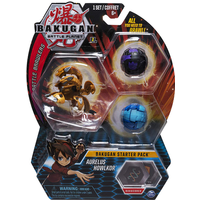 Bakugan Starter 3 Pack Action Figure - Aurelus Howlkor - Bakugan Gifts