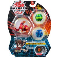 Bakugan Starter 3 Pack Action Figure - Pyrus Trunkanious