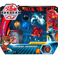 Bakugan Battle Collectible Cards and Figures 5-Pack - Pyrus Howlkor & Haos Mantonoid - Bakugan Gifts