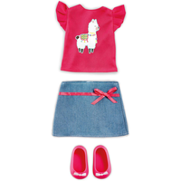 B Friends No Prob-llama Top & Skirt - Skirt Gifts