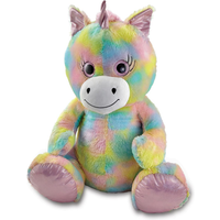 Snuggle Buddies 80cm Plush Sitting Unicorn - Sugar Sparkle