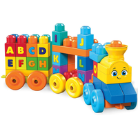 Mega Bloks First Builders Musical Alphabet Train - 50 Pieces - Musical Gifts