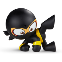 Fart Ninja - Windbreak Warrior Black with Yellow Belt - Yellow Gifts