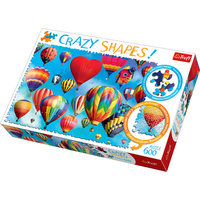 Trefl Crazy Shapes 600 Piece Puzzle - Colourful Balloons - Balloons Gifts