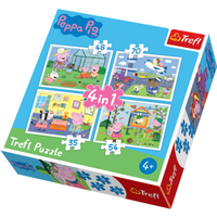 Trefl 4 in 1 Puzzle Peppa Pig - Holiday Recollection - Peppa Pig Gifts