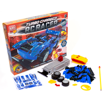 Block Tech Turbo Charged RC Racer Car - Blue - Rc Gifts