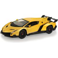 Lamborghini 1:24 Scale Friction Car - Yellow - Yellow Gifts