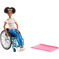 Barbie Doll and Wheelchair - Brown Hair - Dolls Gifts