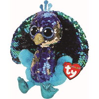 Ty Flippables 23cm Soft Toy - Tyson The Peacock
