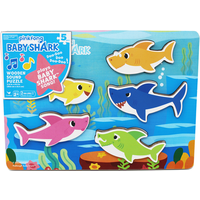 Pinkfong Baby Shark Chunky Wood Sound Puzzle - Thetoyshopcom Gifts