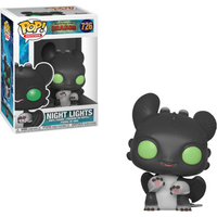 Funko Pop! Movies: How To Train Your Dragon - The Hidden World - Night Light Black with Green Eyes - How To Train Your Dragon Gifts