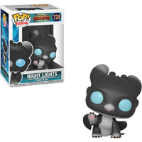 Funko Pop! Movies: How To Train Your Dragon - The Hidden World - Night Light Black with Blue Eyes - How To Train Your Dragon Gifts