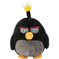 Angry Birds 23cm Plush Soft Toy - Bomb - Angry Birds Gifts