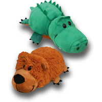 FlipaZoo Plush Soft Toy - Grizzly Bear and Alligator - Soft Toy Gifts