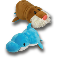 FlipaZoo Plush Soft Toy - Dolphin and Walrus - Dolphin Gifts