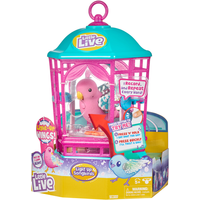 Little Live Pets Light Up Song Birds and Cage - Rainbow Glow - Pets Gifts