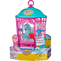 Little Live Pets Light Up Song Birds and Cage - Snow Gleam