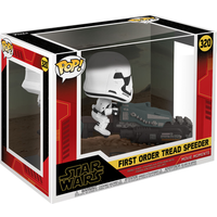 Funko Pop! Movies: Star Wars The Rise of Skywalker - First Order Tread Speeder Bobble-Head - Bobblehead Gifts