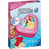 Ravensburger - Disney Princess 3D Heart Shaped 54pc Puzzle - Ravensburger Gifts