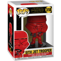 Funko Pop! Movies: Star Wars The Rise of Skywalker - Sith Jet Trooper Bobble-Head - Bobblehead Gifts