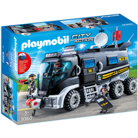 Playmobil 9360 City Action SWAT Truck with Working Lights and Sound - Working Gifts