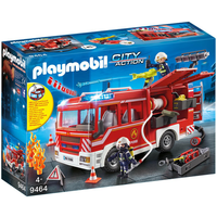 Playmobil 9464 City Action Fire Engine with Working Water Cannon - Working Gifts