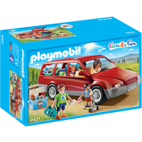 Playmobil 9421 Family Fun Family Car with Trailer Hitch - Fun Gifts