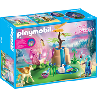 Playmobil 9135 Fairies Mystical Fairy Glen with Glowing Flower Throne - Fairies Gifts