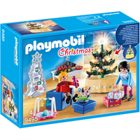 Playmobil 9495 Christmas Living Room with Illuminated Tree - Christmas Gifts