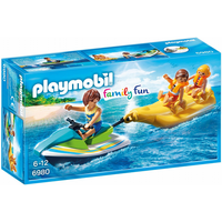 Playmobil 6980 Family Fun Floating Personal Watercraft with Banana Boat - Fun Gifts