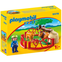 Playmobil 9378 1.2.3 Lion Enclosure with Cave - Lion Gifts