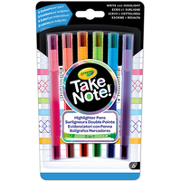 Crayola Take Note 6 Pack Dual End Highlighter - Crayola Gifts