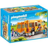 Playmobil City Life School Van with Folding Ramp - 9419 - Life Gifts